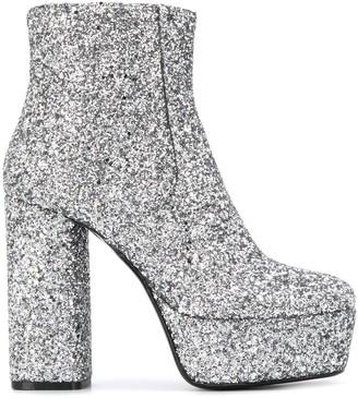 P.A.R.O.S.H. Glitter Platform Boots