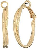 GUESS Small Double Twist Hoop Earrings Earring