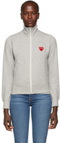 Comme des Garcons Grey Heart Patch Zip-Up Jacket