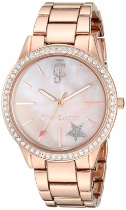 Juicy Couture Black Label Women's JC/1096BMRG Swarovski Crystal Accented Rose Gold-Tone Bracelet Watch