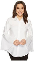 Vince Camuto Bell Sleeve Button Down Collared Shirt Women's Clothing