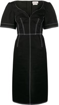 Alexander McQueen contrast stitching fitted dress