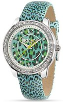 Just Cavalli r7251586501 40mm Stainless Steel Case Blue Leather Mineral Women's Watch