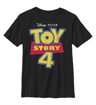 Fifth Sun Boys' Tee Shirts BLACK - Toy Story 4 Black Full Color Logo Tee - Boys