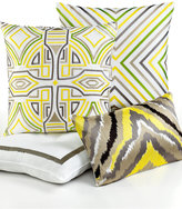 "Trina Turk Ikat Retro Design 20"" Square Decorative Pillow"