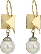 Majorica Why Not? Two-Tone Frenchwire Earrings