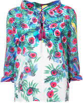Saloni floral print top - women - Silk - 0