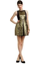 Tibi Metallic Jacquard Dress