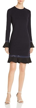Tory Burch Lace Trimmed Knit Dress