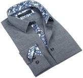 Coogi Melange Tailor Fit Dress Shirt