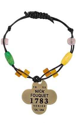 Nick Fouquet logo plaque bracelet
