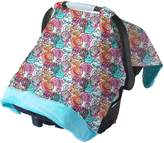 Itzy Ritzy IR-CAN8112 Cozy Happens Infant Car Seat Canopy and Tummy Time Mat, Watercolor Bloom