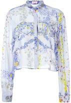 Giamba floral print boxy shirt