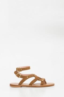 Alberta Ferretti Gladiator Thong Sandals