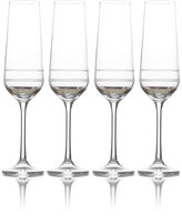 Mikasa Lux Platinum Set of 4 Champagne Flutes