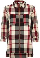 River Island Womens Red check zip shirt