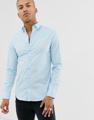 SikSilk shirt in light blue