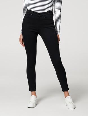 Forever New Sara Mid-Rise 7/8 Jeans - Forever Black - 10