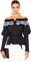 Peter Pilotto Cotton Lace Belted Top
