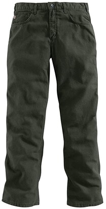 Carhartt Big Tall Flame-Resistant Canvas Pants (Moss) Men's Casual Pants
