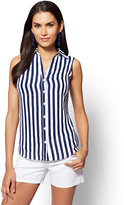 New York & Co. Soho Soft Shirt - Sleeveless - Stripe