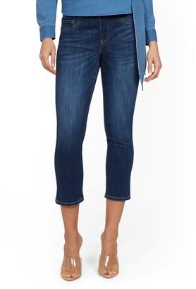 New York & Co. Feel Good High-Waisted No Gap Pull-On Super-Skinny Capri Jeans - Norfolk Blue