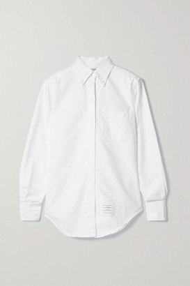 Thom Browne Cotton Oxford Shirt - White
