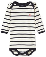 Petit Bateau Babies long-sleeved striped bodysuit