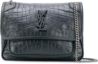 Saint Laurent Niki crocodile-effect shoulder bag