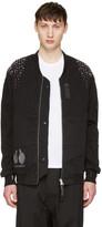 11 By Boris Bidjan Saberi Reversible Black Optic Bomber Jacket