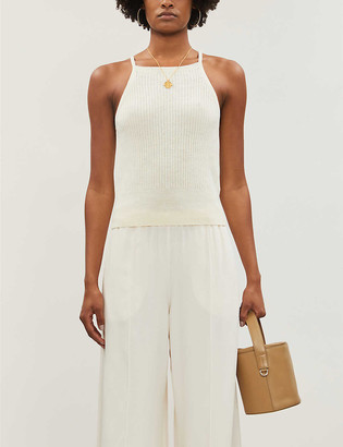 Whistles Rib cotton and linen vest top