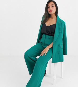 Asos Edition EDITION Petite wide leg trouser-Green