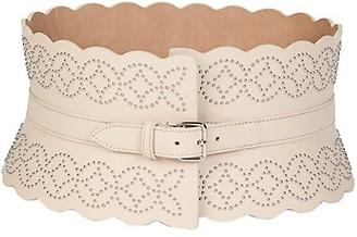 Alaia Arabesque Leather Corset Belt