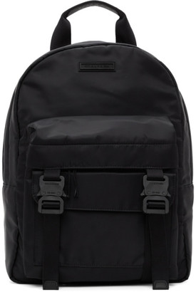 Alyx Black Double Front Pockets Backpack