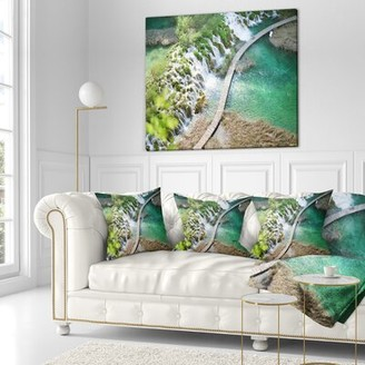 "East Urban Home Landscape Photo Tourist Path Size: 18"" x 18"", Product Type: Product Type"