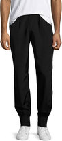 ATM Anthony Thomas Melillo Rayon Faille Pull-On Track Pants, Black