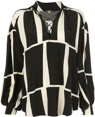 Johanna Ortiz Rhapsody block pattern shirt