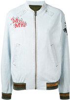 Mr & Mrs Italy - patch detail bomber jacket - women - Cotton/Spandex/Elastane - XXS