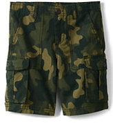 Lands' End Boys Husky Camo Cargo Shorts-Beetle Camo Print