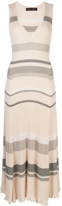 Proenza Schouler Striped Sleeveless Knitted Dress