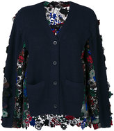 Sacai cardigan with floral lace backf
