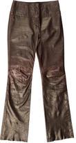 Roberto Cavalli Leather Wide-Leg Pants