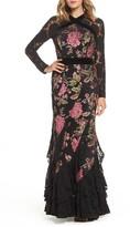 Tadashi Shoji Women's Lace & Brocade Mermaid Gown