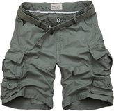 Win8Fong Men's Summer Modern Style Casual Cargo Shorts Pants Loose Pockets Trousers (M, )