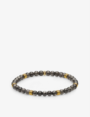 Thomas Sabo Lucky Charms 18ct gold-plated and marble beaded bracelet