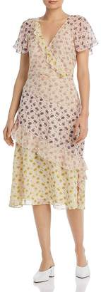 Joie Orita B Floral-Silk Dress
