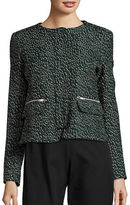 Helene Berman Wool Blend Jacquard Jacket