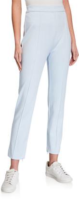 Joan Vass Petite Stitched Seam Ankle Pants