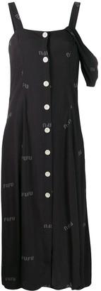 Natasha Zinko printed one shoulder dress