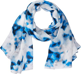 Calvin Klein Women's Blurred Floral Chiffon Scarf Accessory